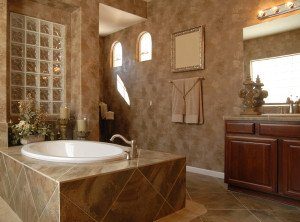 Beautiful bathroom interior design in new home
