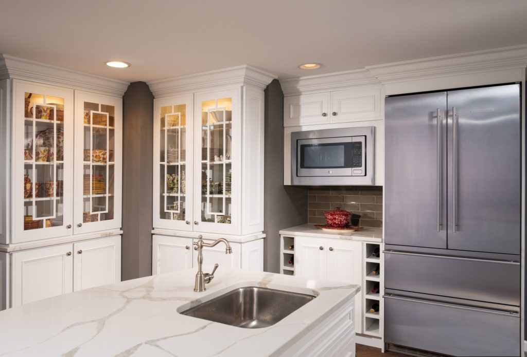 white kitchen with appliances