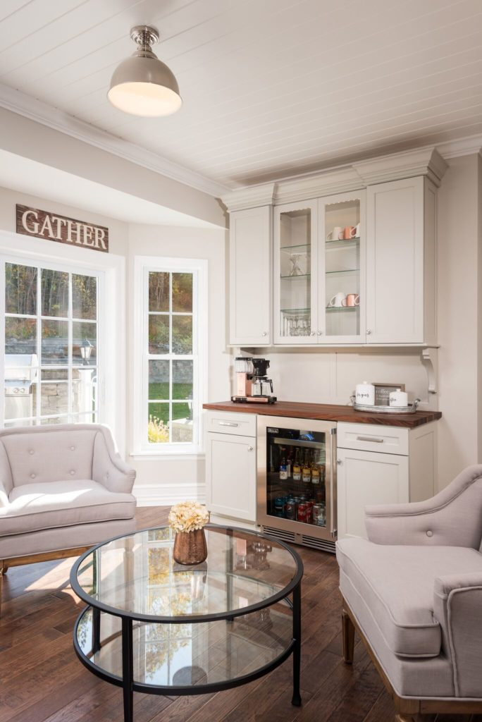 wine bar with seating